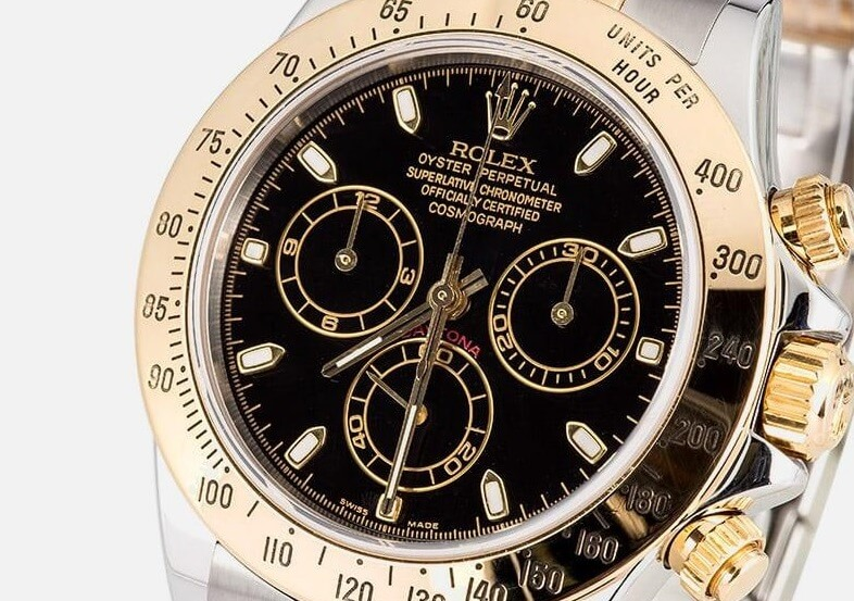 replica Rolex Daytona 116523 black dial